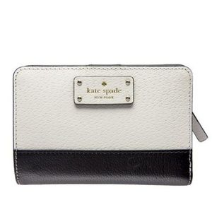 Kate Spade Black and White 2-Fold Wallet